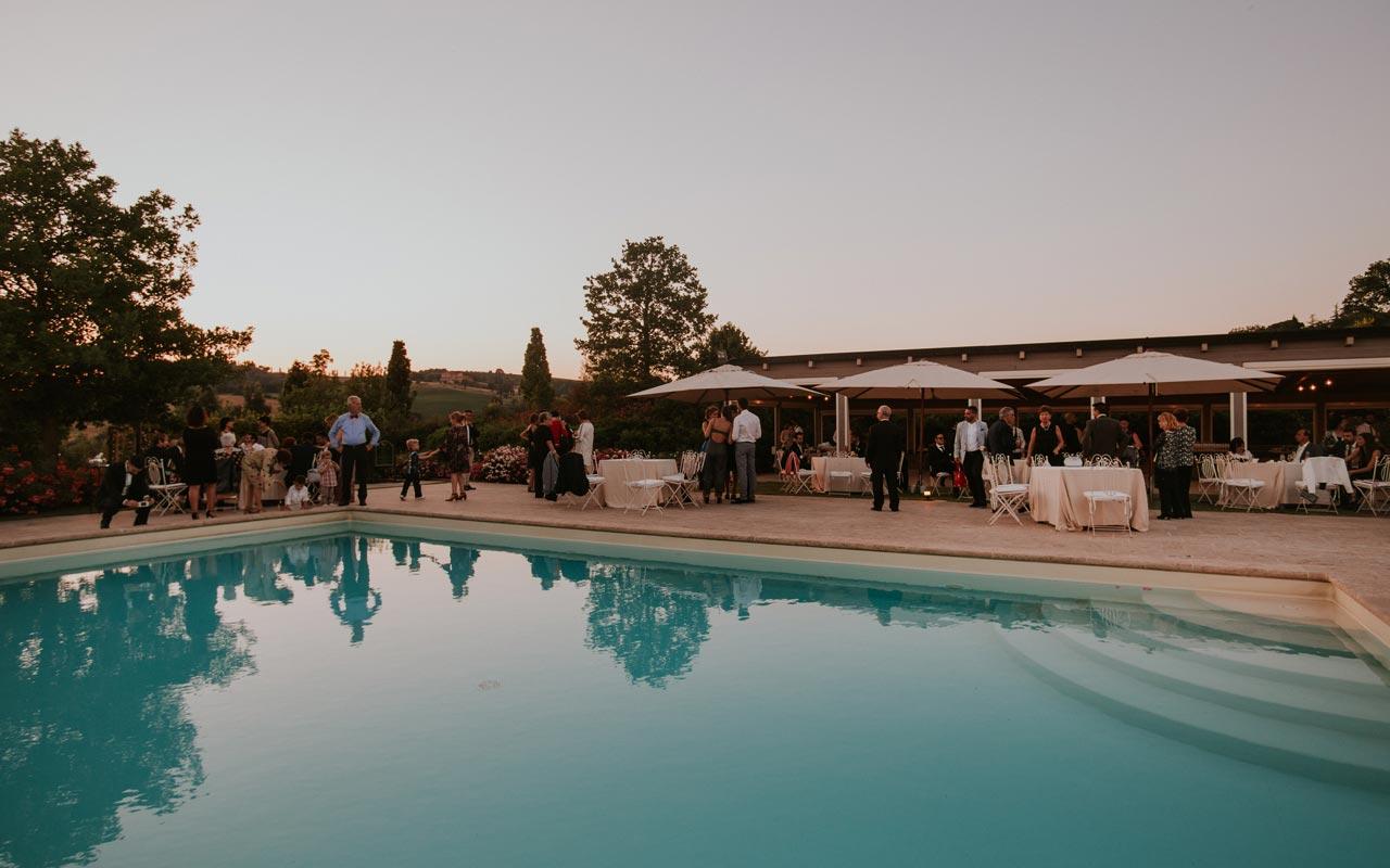 ricevimento matrimonio bordo piscina